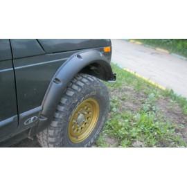 Расширители колёсных арок ВАЗ НИВА 2131 5D (передние 70 мм, задние 70 мм)