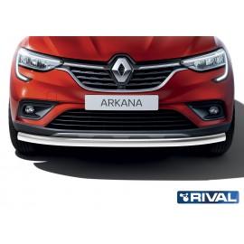 Защита переднего бампера d57 Rival для Renault Arkana 2019- (R.4705.002)