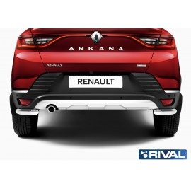 Защита заднего бампера уголки d42 Rival для Renault Arkana 2019- (R.4705.006)
