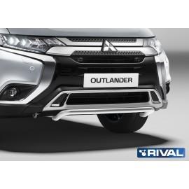 Защита переднего бампера d42 волна Rival для Mitsubishi Outlander 2019- (R.4010.001)