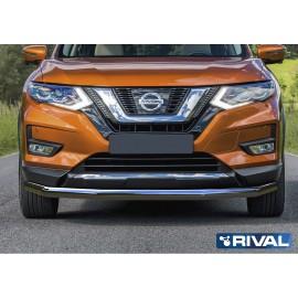 Защита переднего бампера d57 Rival для Nissan X-Trail 2018- (R.4125.002)
