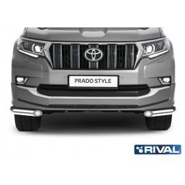 Защита переднего бампера d57 уголки Rival для Toyota Land Cruiser Prado Style (R.5723.004)