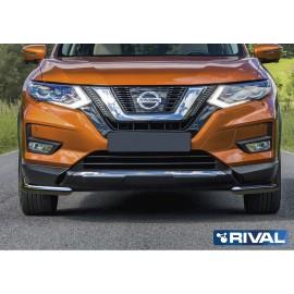Защита переднего бампера d57 уголки Rival для Nissan X-Trail 2018- (R.4125.004)