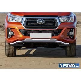Защита переднего бампера d57 волна Rival для Toyota Hilux Exclusive 2018 (R.5722.001)