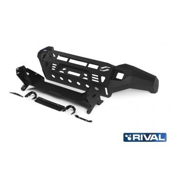 Силовой бампер передний RIVAL алюминиевый для Toyota Land Cruiser 200 (2015-)