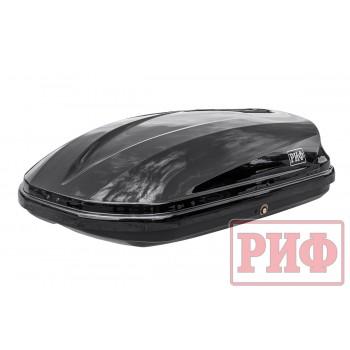 Автомобильный бокс на крышу РИФ Туризм-М 360 л черный глянец, двусторонний
