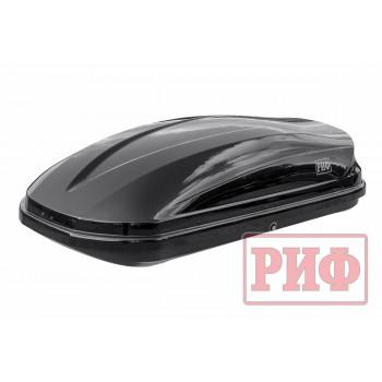 Автомобильный бокс на крышу РИФ Туризм-М 450 л черный глянец, двусторонний