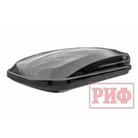 Автомобильный бокс на крышу РИФ Курорт 450 л черный глянец, двусторонний