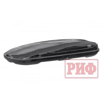 Автомобильный бокс на крышу РИФ Курорт 520 л черный глянец, двусторонний