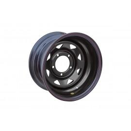 Диск УАЗ стальной черный 5x139,7 8xR15 d110 ET-40 треуг. мелкий (только на барабанные тормоза)