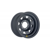 Диск усиленный УАЗ стальной черный (матовый) 5x139,7 8xR16 d110 ET-19 (треуг. мелкий)