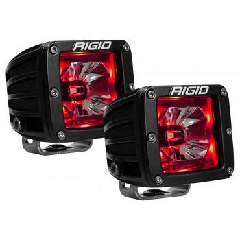 RIGID Radiance Pod (3 светодиода) – Красная подсветка (пара)
