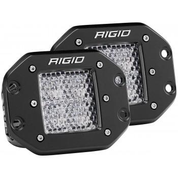RIGID D-серия PRO (4 светодиода) – Рабочий свет – Врезная установка (пара)