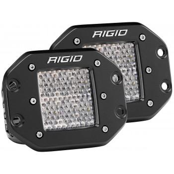 RIGID D-серия PRO (6 светодиодов) – Рабочий свет – Врезная установка (пара)