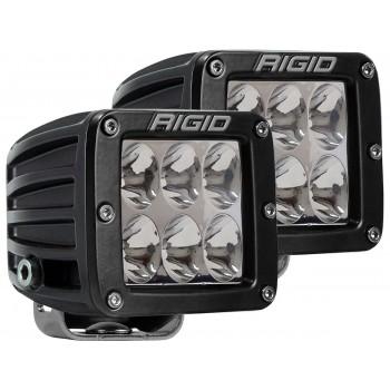RIGID D-серия PRO (6 светодиодов) – Водительский свет (пара)