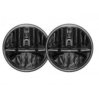 RIGID фара головного света 7″ (с подогревом), комплект 2 шт. (DOT сертификация)