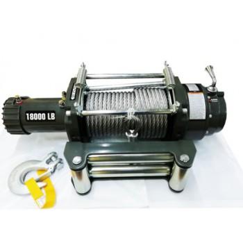 Лебедка автомобильная индустриальная 4REVO 18000 24V со стальным тросом