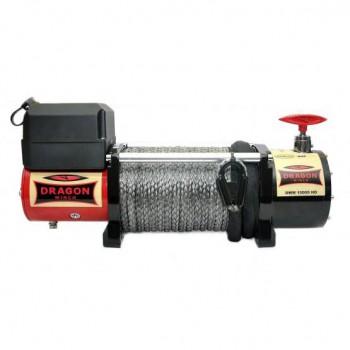Лебедка электрическая Dragon winch DWM 10000 HD 12V синтетика