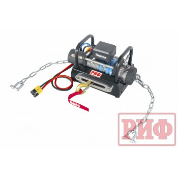 Лебёдка переносная РИФ 8000SR c площадкой на цепях и проводами (синтетический трос)