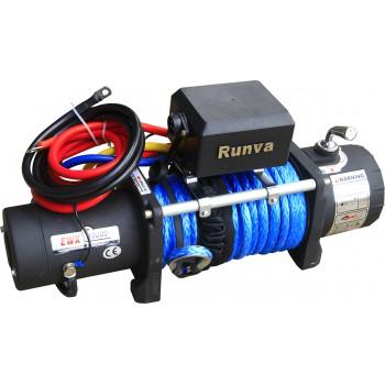 Лебёдка электрическая 12V Runva 10000 lbs 4500 кг (синтетический трос)