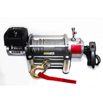 Лебёдка электрическая 12V T-Max EW-9500 Improved OFF-ROAD