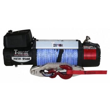 Лебёдка электрическая 12V T-Max HEW-9500 X Power с синтетическим тросом