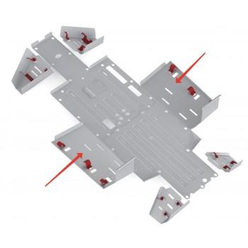 Защита порогов Rival для Honda UTV Pioneer 700 2015-, 4.2108.1-4