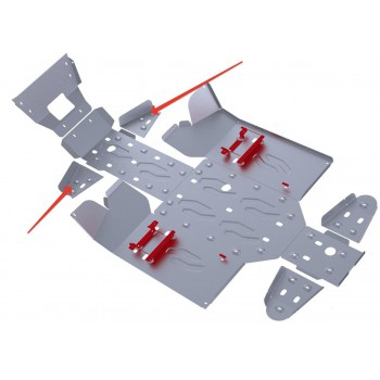 Защита передних рычагов Rival для Stels UTV 800 Dominator 2012-2013, 4.6713.1-5