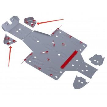Защита передних рычагов Rival для Yamaha UTV Rhino 2011-, 4.7102.1-5