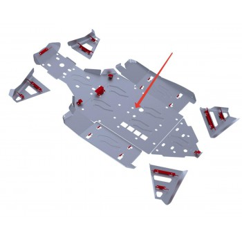 Защита картера Rival для BRP (Can-Am) Maverick 1000 2013-, 4.7207.2-2