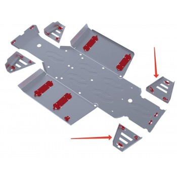 Защита задних рычагов Rival для Polaris UTV Ranger 400 2013-2014, 4.7415.1-7