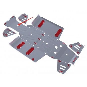 Защита переднего редуктора Rival для Polaris UTV Ranger 570 2013-2014, 4.7418.1-1