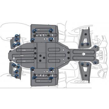 Комплект защит днища Rival для Polaris Sportsman XP 1000 2016-, 444.7439.1