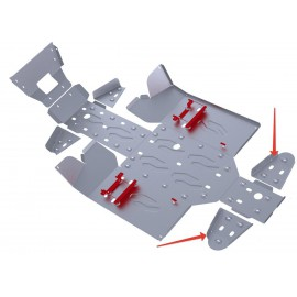 Защита задних рычагов Rival для Stels UTV 800 Dominator 2012-2013, 4.6713.1-6