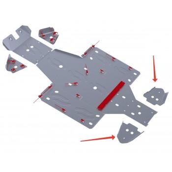 Защита задних рычагов Rival для Yamaha UTV Rhino 2011-, 4.7102.1-6