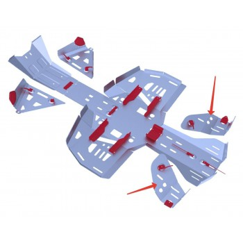 Защита задних рычагов Rival для BRP (Can-Am) Renegade G2 ATV 2013-, 4.7221.1-6