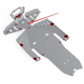 Защита переднего редуктора Rival для Polaris UTV RZR 1000 2013-2015, 4.7413.3-2