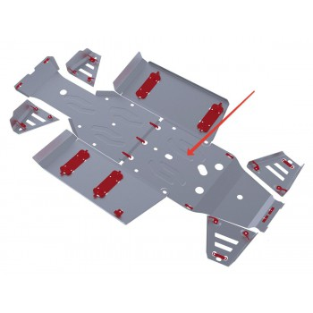 Защита картера Rival для Polaris UTV Ranger 570 2013-2014, 4.7418.1-2