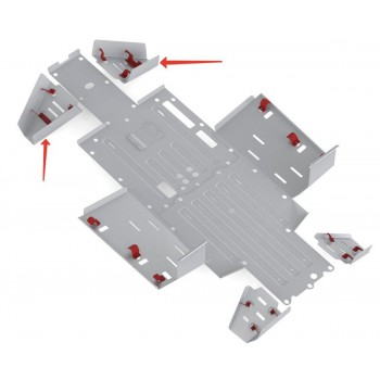 Защита задних рычагов Rival для Honda UTV Pioneer 700 2015-, 4.2108.1-6