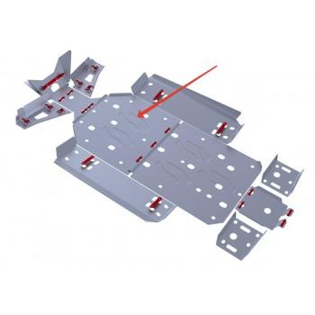 Защита картера (часть 1) Rival для Polaris UTV RZR 800 EFI 2013-2014, 4.7408.2-2