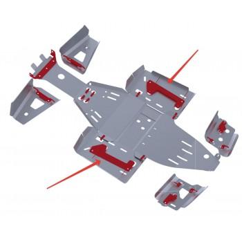 Защита порогов Rival для Polaris Scrambler ATV 1000 2013-, 4.7423.1-5