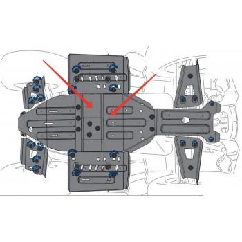 Защита картера двигателя Rival для Polaris Sportsman XP 1000 2016-, 444.7439.1-2
