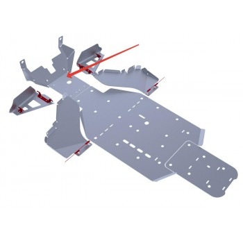 Защита переднего редуктора Rival для BRP (Can-Am) Commander 1000 2011-2014, 4.7204.2-1