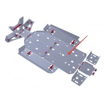 Защита картера (часть 2) Rival для Polaris UTV RZR 800 EFI 2013-2014, 4.7408.2-3