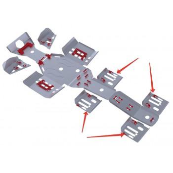 Защита задних рычагов Rival для Polaris Sportsman 6*6 800 EFI BIG BOSS 2011-2014, 4.7411.1-6