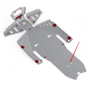 Защита заднего редуктора Rival для Polaris UTV RZR 1000 2013-2015, 4.7413.3-4