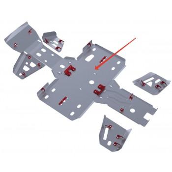 Защита картера и порогов Rival для BaltMotors Jumbo 700 2012-, 4.8502.2-2