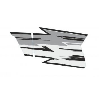 Комплект наклеек Rival на двери квадроцикла CF MOTO Z8 серые