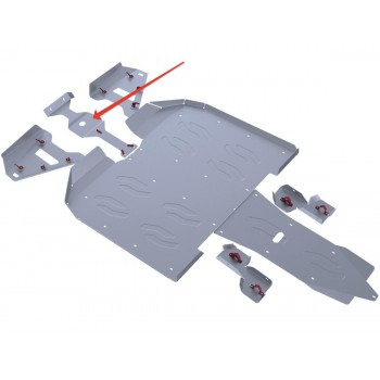 Защита переднего редуктора Rival для Artic Cat WILDCAT 1000 2011-2014, 4.7310.1-1