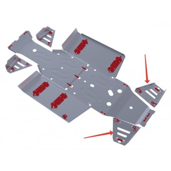 Защита задних рычагов Rival для Polaris UTV Ranger 570 2013-2014, 4.7418.1-6